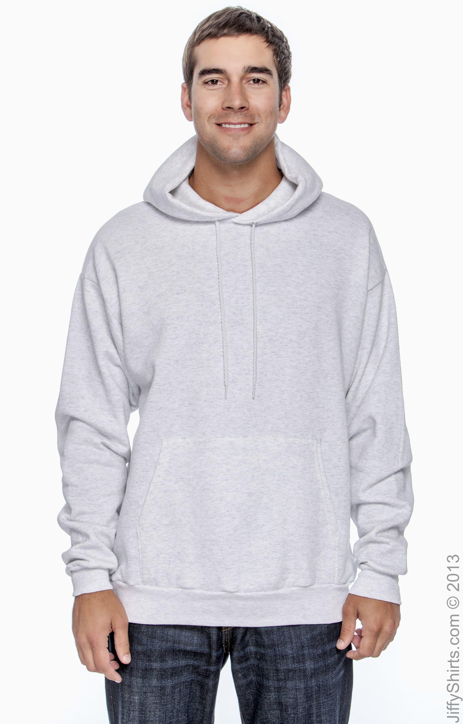 Hanes P170 Mens EcoSmart Hooded Sweatshirt 2XL 1 Light Blue 1 Light Steel