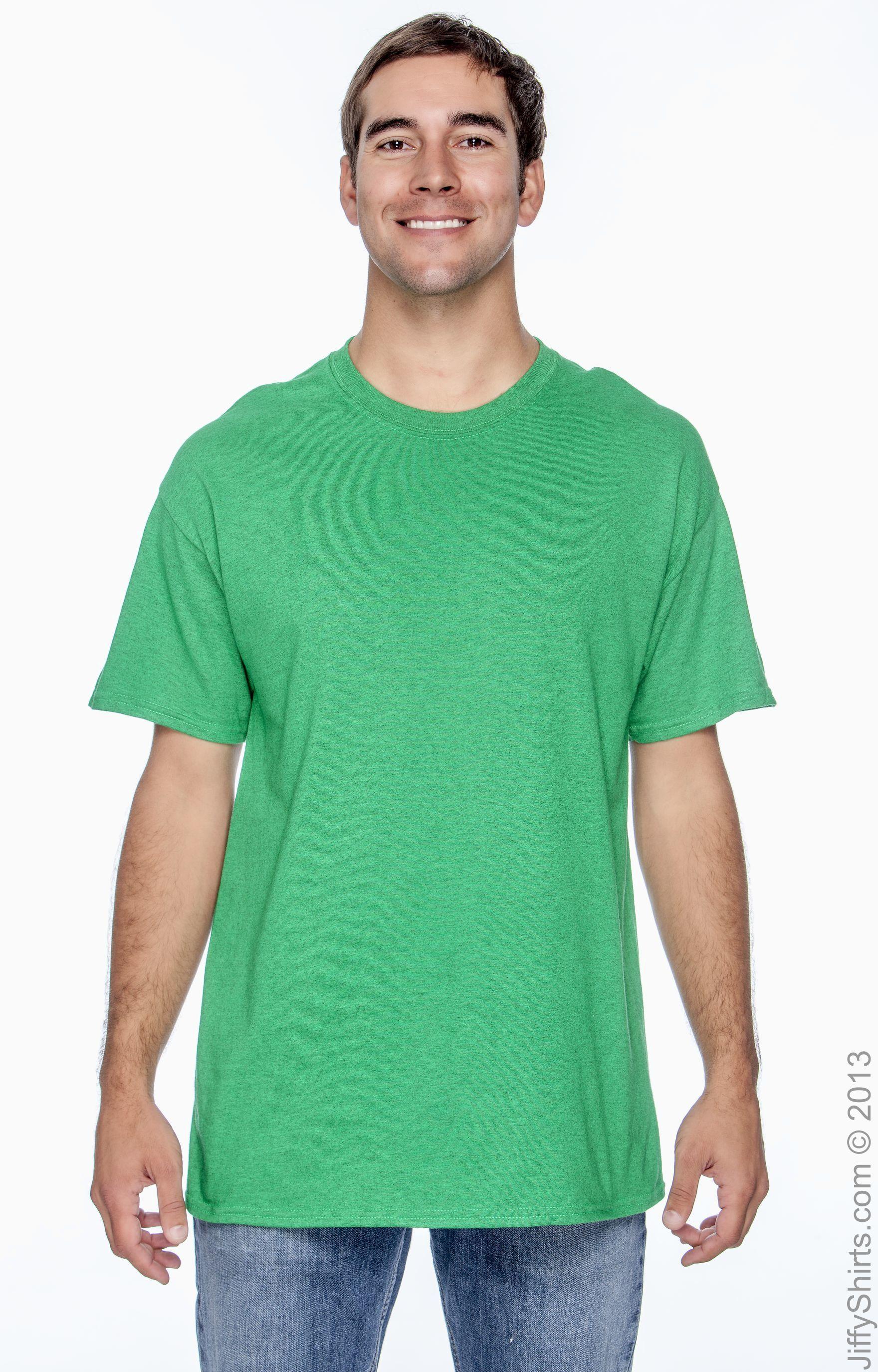 5XL - Teal By Hanes Mens 61 Oz Tagless T-Shirt Style # 5250T - Original Label