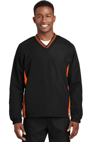 Sport-Tek JST62 Black / Deep Orange
