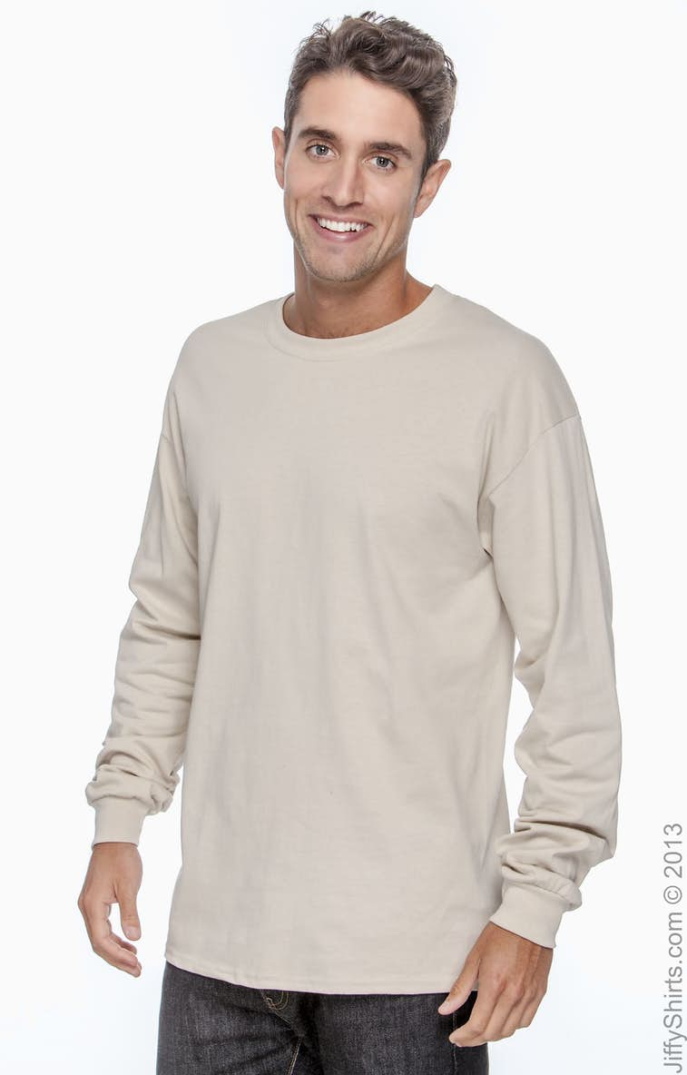 1d069b5163e Gildan G240 Adult Ultra Cotton® 6 oz. Long-Sleeve T-Shirt - JiffyShirts.com