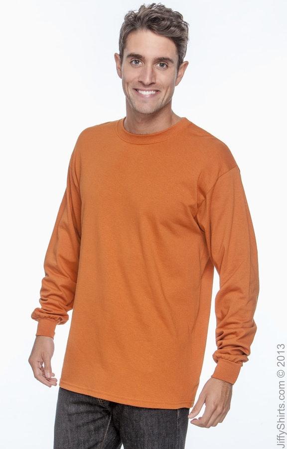 18fa18657cb5 Gildan G240 Adult Ultra Cotton® 6 oz. Long-Sleeve T-Shirt - JiffyShirts.com