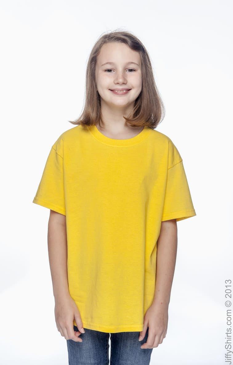 Gildan G500b Youth 53 Oz T Shirt Cardinal Girl Navy Xl