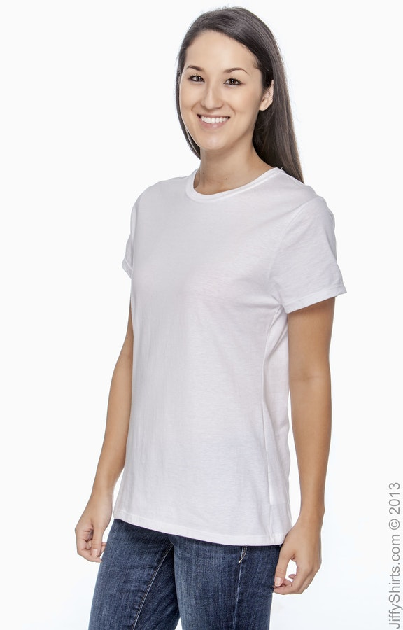 4c2c6303 Hanes SL04 Ladies' 4.5 oz., 100% Ringspun Cotton nano-T® T-Shirt ...