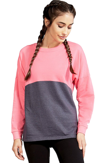 Soffe S5353VP Gray Heather / Neon Pink