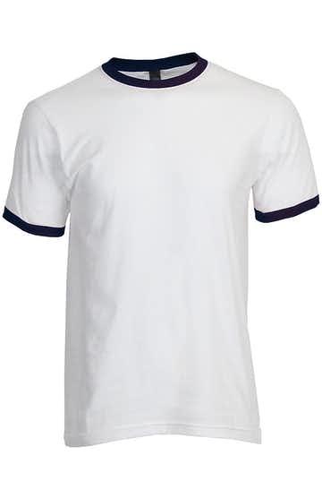 Tultex 0246TC White/Navy