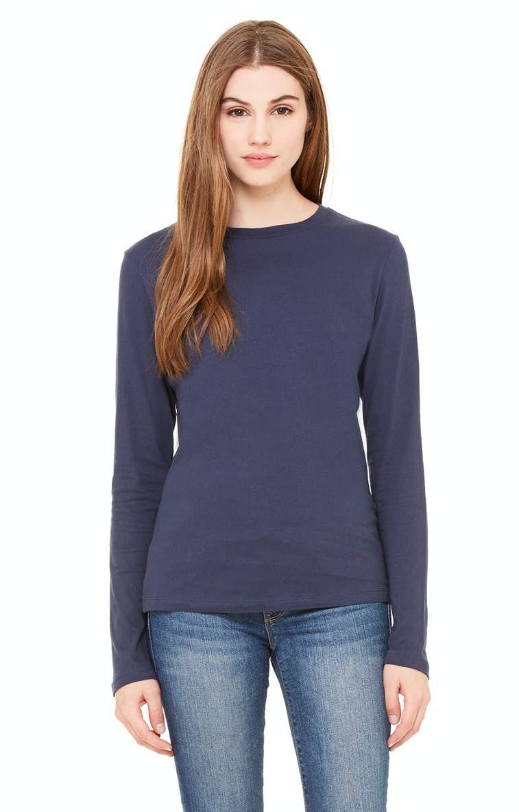 c705e1678 Bella+Canvas B6500 Ladies' Jersey Long-Sleeve T-Shirt - JiffyShirts.com