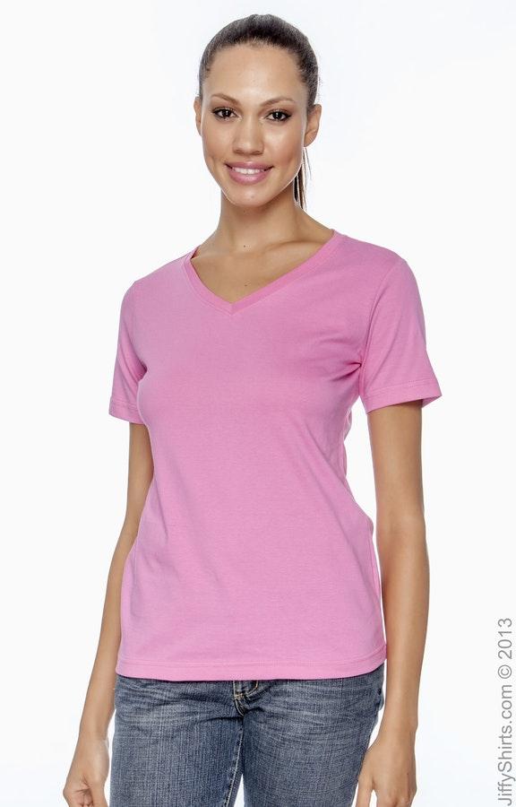 6440d8c2d776 LAT L-3587 Ladies' V-Neck Premium Jersey T-Shirt - JiffyShirts.com