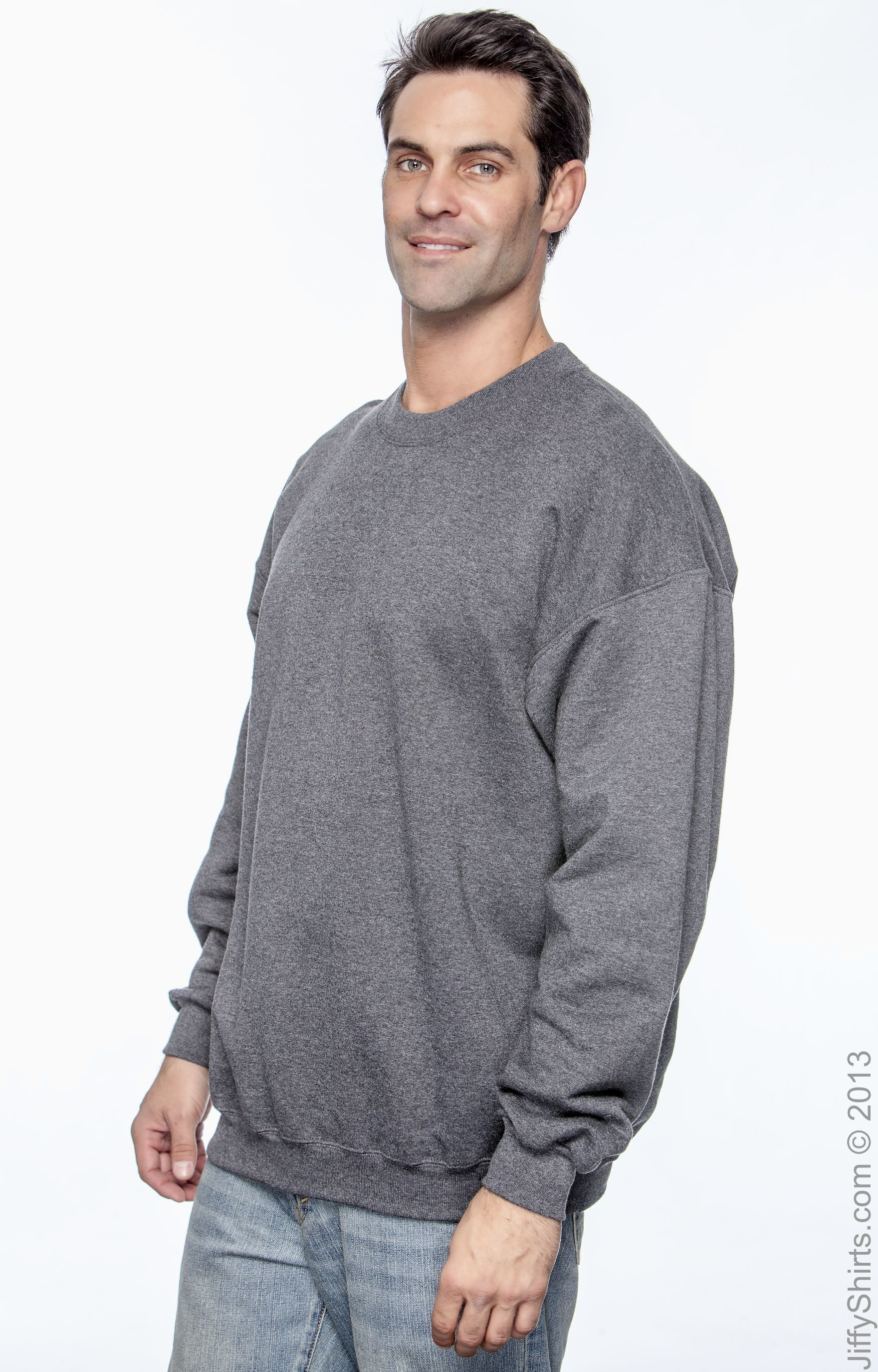 Hanes PrintProXP Ultimate Cotton Crewneck Sweatshirt F260 S-3XL NEW