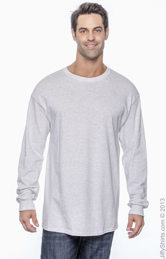 97109c10bb Gildan G540 Ash Adult Heavy Cotton™ 5.3 oz. Long-Sleeve T-Shirt
