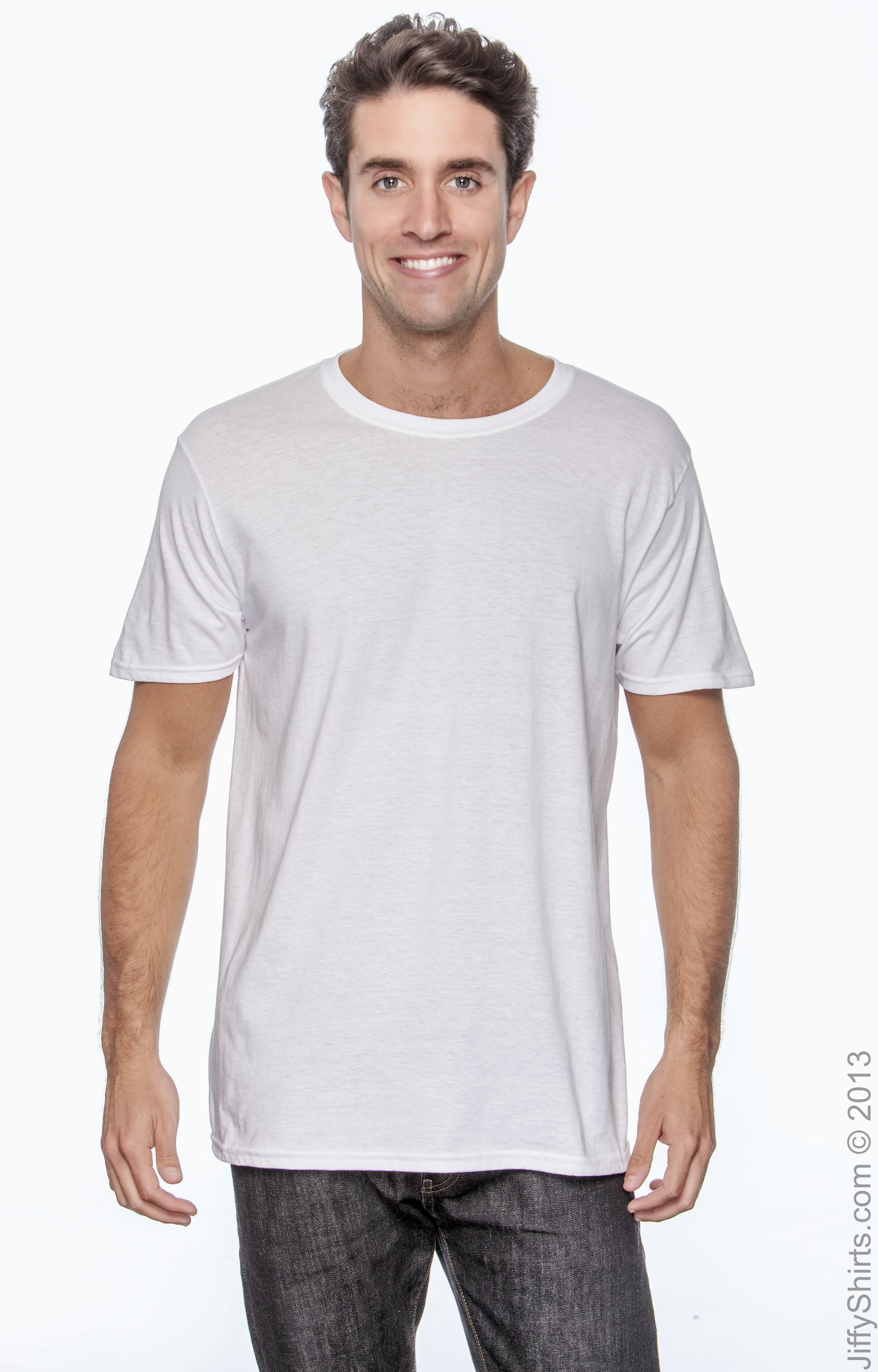 Gildan T-Shirt high qualit Tee Men/'s Short Sleeve Soft Style Ringspun Solid G640