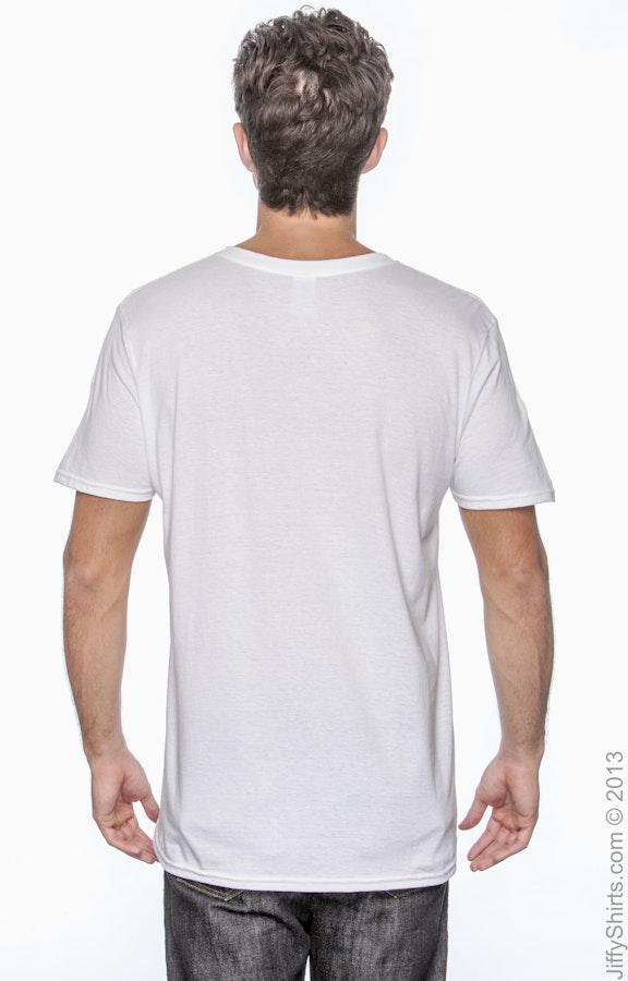 Gildan G640 White Adult Softstyle® 4 5 oz  T-Shirt