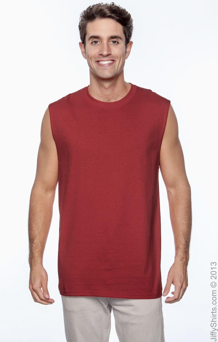 4acaa246f5bfc0 Gildan G270 Adult Ultra Cotton® 6 oz. Sleeveless T-Shirt - JiffyShirts.com