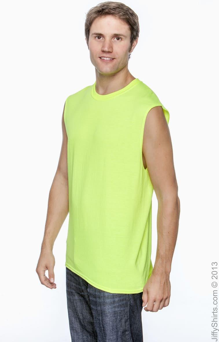 42c743cadd156 Gildan G270 Adult Ultra Cotton® 6 oz. Sleeveless T-Shirt - JiffyShirts.com