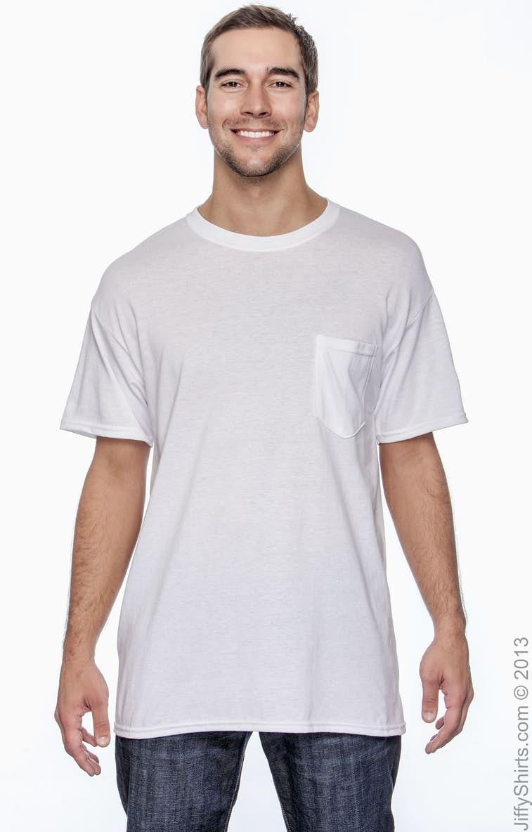 d52a8c64 Gildan G830 Adult 5.5 oz., 50/50 Pocket T-Shirt - JiffyShirts.com