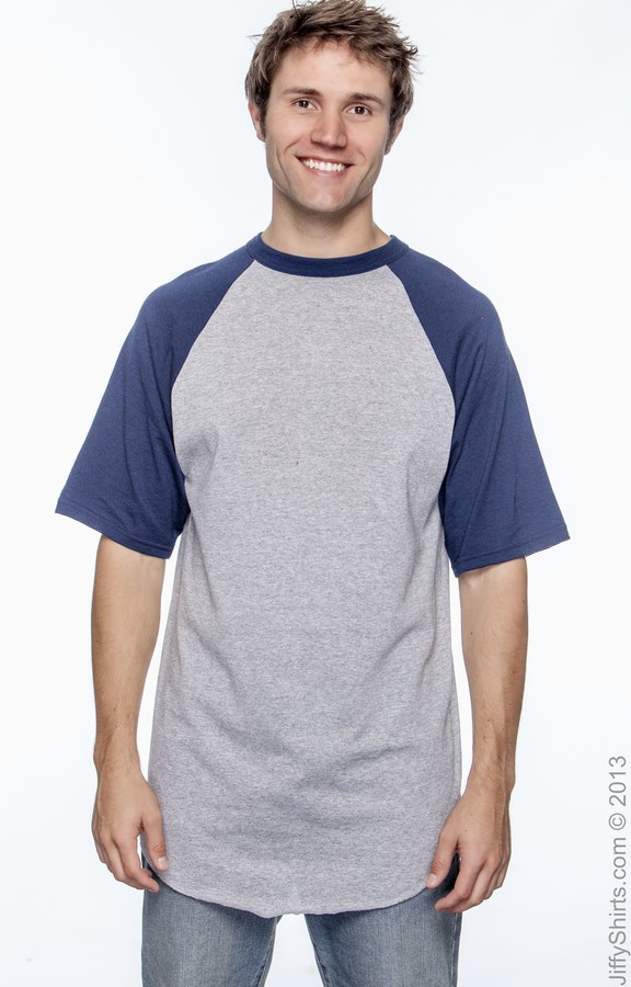 Augusta Sportswear 423 Athletic Heather/Navy