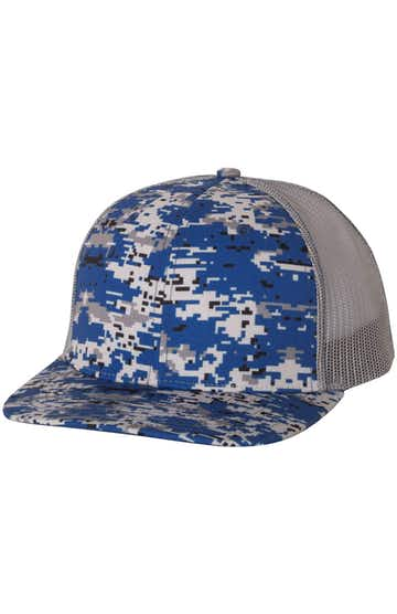Richardson 112P Royal Digital Camo/ Charcoal