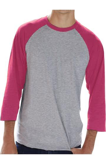 LAT 6930 Vintage Heather/Vintage Hot Pink