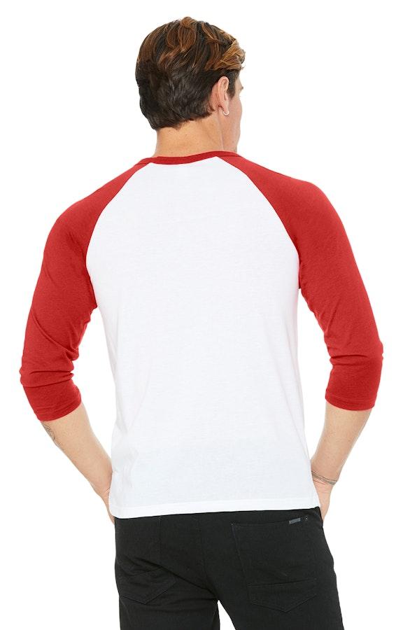 e11213e2866c87 Bella+Canvas 3200 Unisex 3/4-Sleeve Baseball T-Shirt - JiffyShirts.com