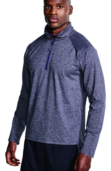 Soffe S2995MP Gray Heather / Navy