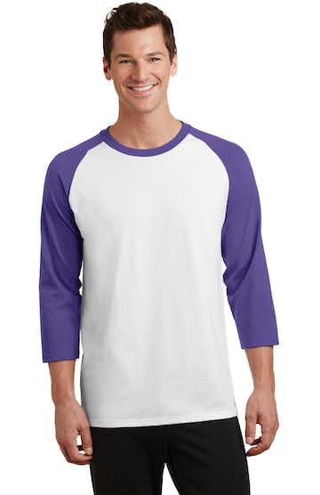 Port & Company PC55RS White / Purple