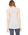 Bella + Canvas B8800 Heather Striped Athletic / White
