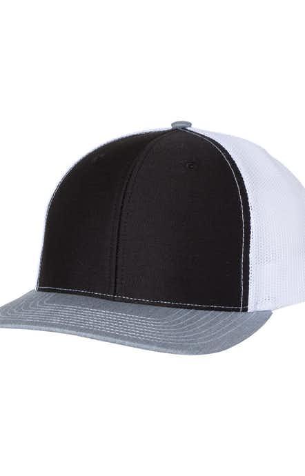 Richardson 112 Black / White / Heather Grey