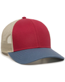 Outdoor Cap OC770 Crimson / Khaki / Light Slate