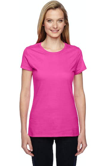 Fruit of the Loom SSFJR Cyber Pink