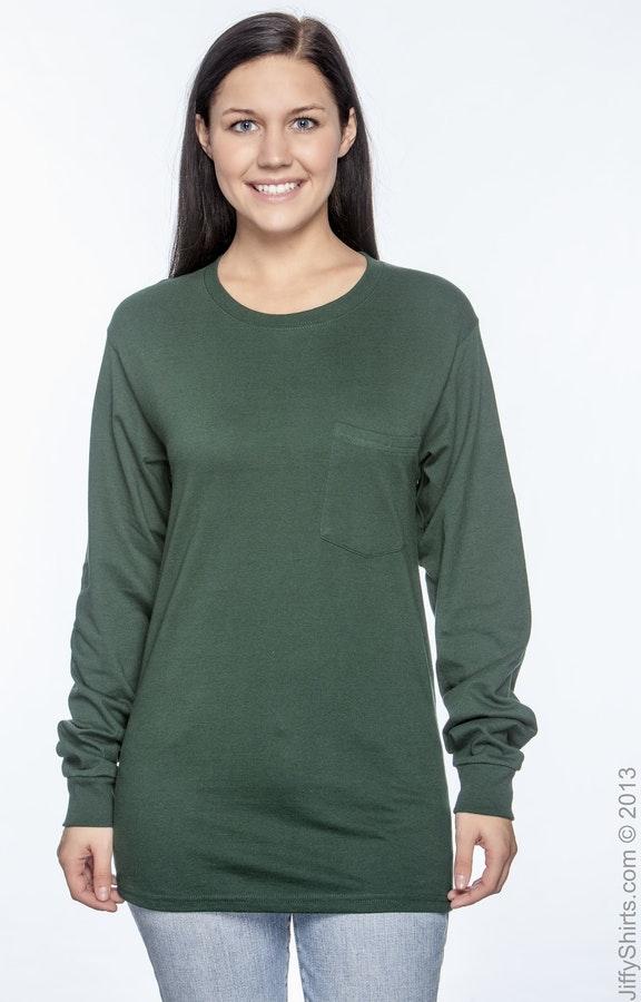 dc0f8ccf924a Hanes 5596 Men's 6.1 oz. Tagless® Long-Sleeve Pocket T-Shirt ...