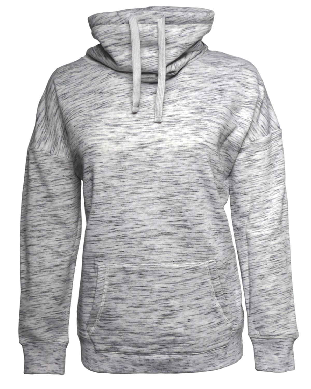 J America NCAA womens School Spirit Front Row Cowl Neck Fleece Sweatshirt