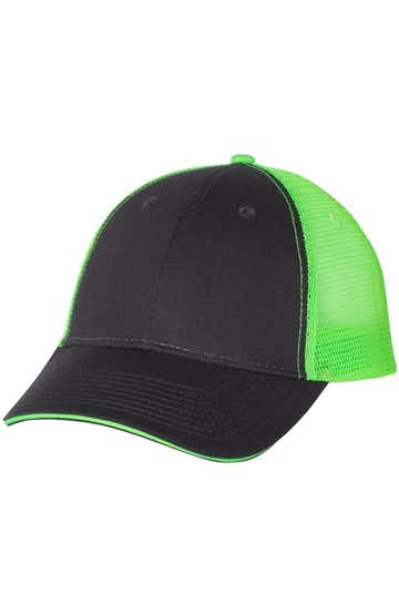 Valucap S102 Charcoal / Neon Green