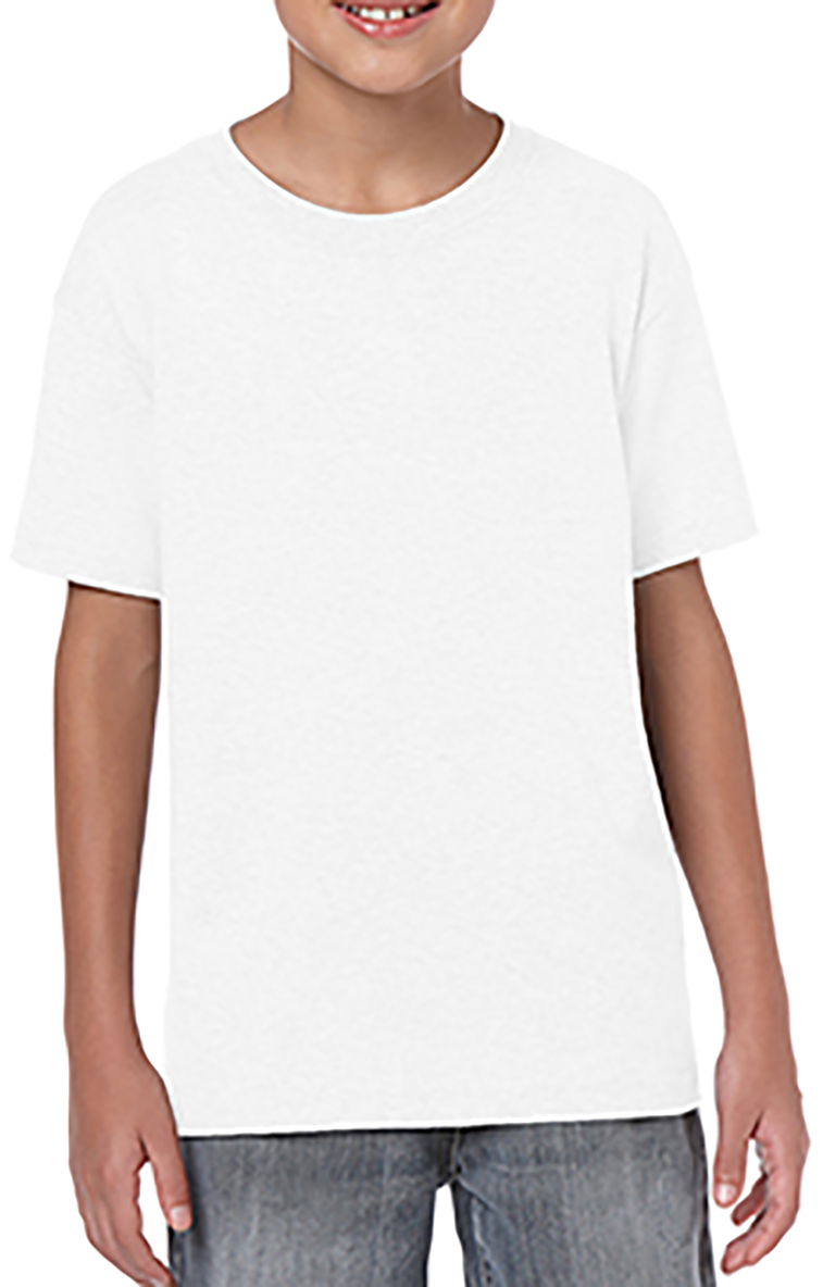 Gildan G645b Youth Softstyle 45 Oz T Shirt Cardinal Girl Navy Xl