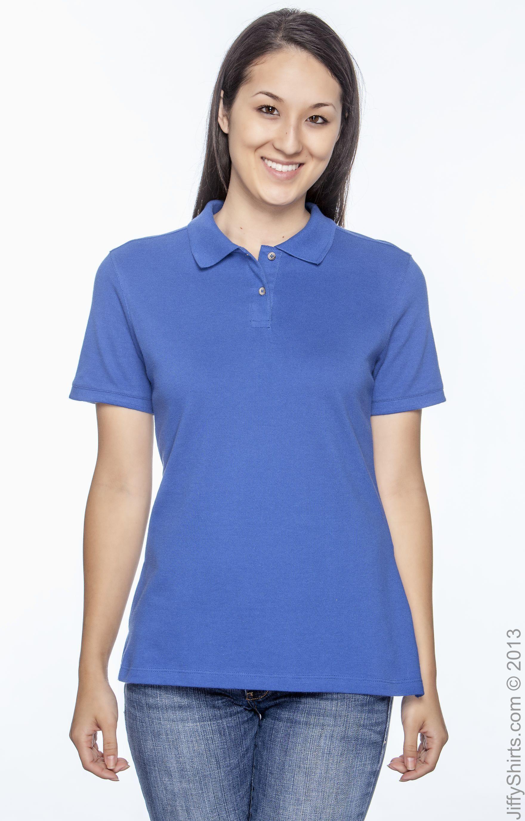 Harriton Ladies 6 oz Cotton Pique Short-Sleeve PoloL TEAM ORANGE M200W