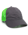 Outdoor Cap FWT-130 Charcoal / Neon Green