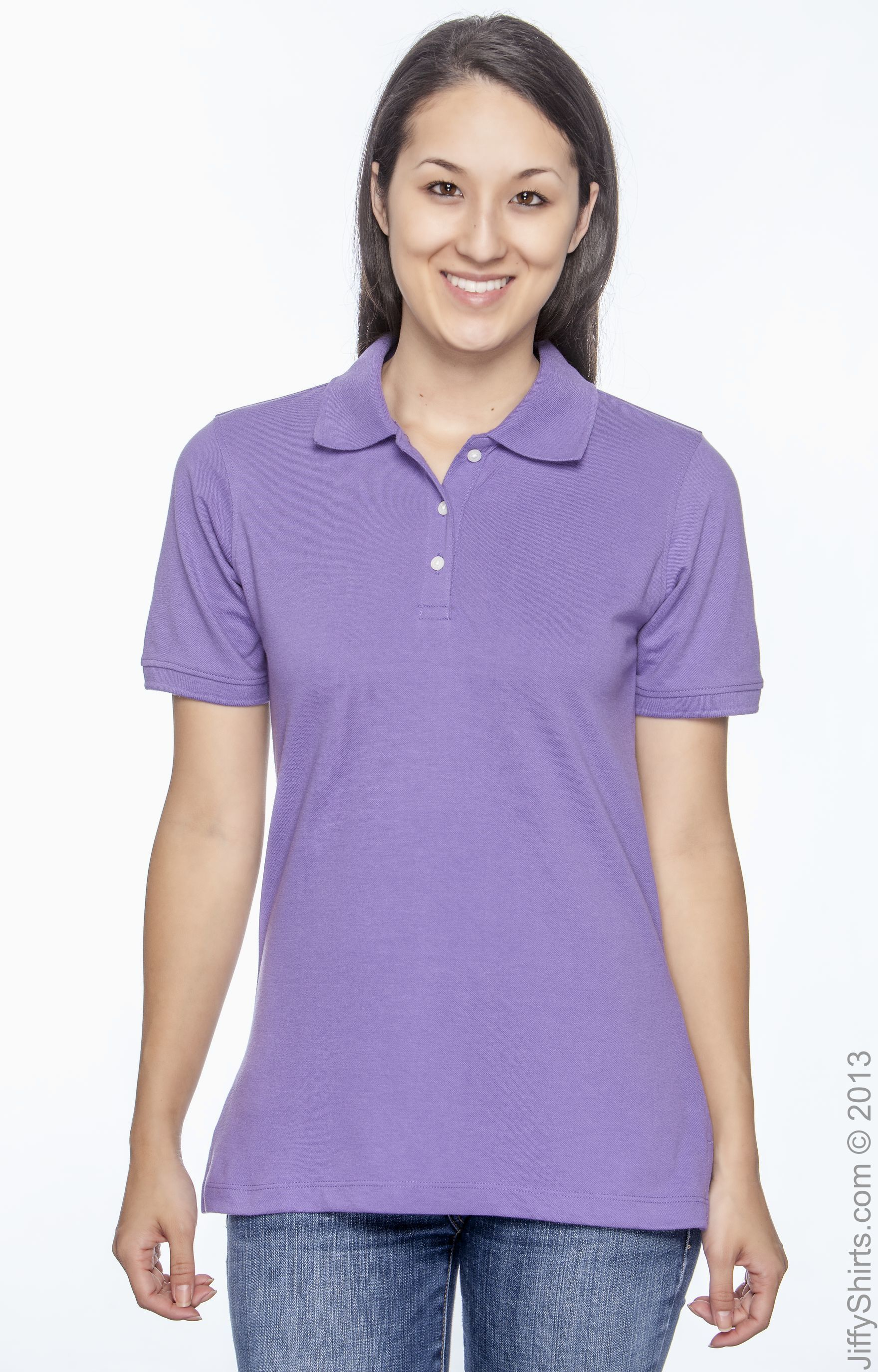 M265W Easy Blend Polo Harriton Womens 5.6 oz CHARCOAL