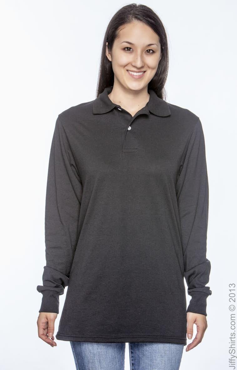 955ccfa0 Jerzees 437ML Adult 5.6 oz. SpotShield™ Long-Sleeve Jersey Polo -  JiffyShirts.com