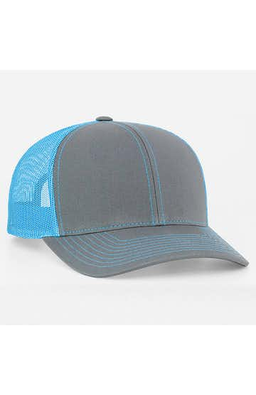 Pacific Headwear 0104PH Graphite/Neon Blue