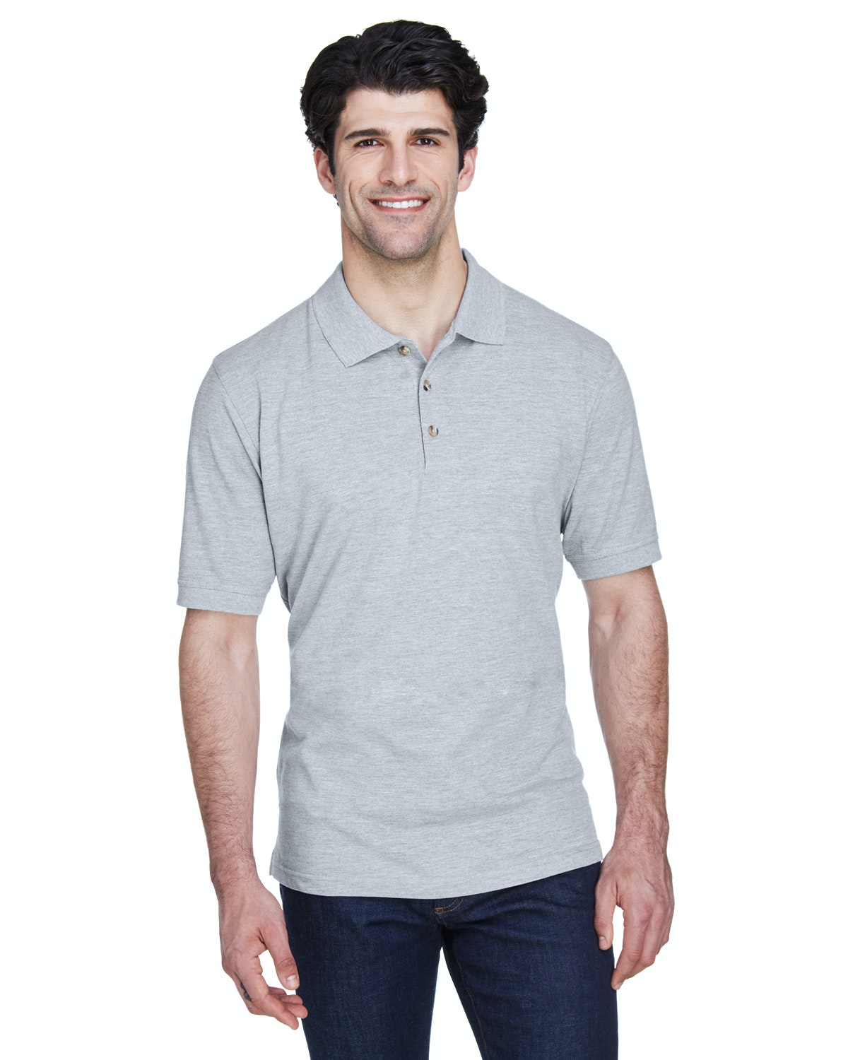 UltraClub 8535 Heather Grey
