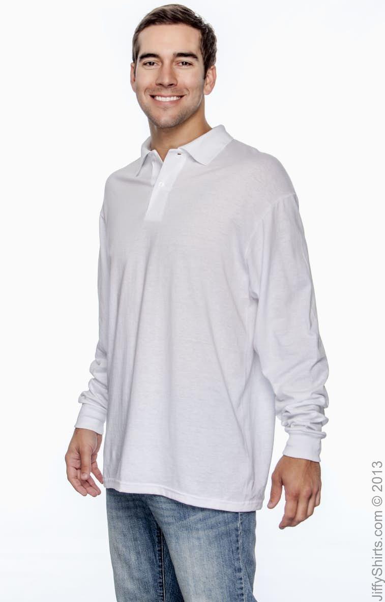 b588a77d6 Jerzees 437ML Adult 5.6 oz. SpotShield™ Long-Sleeve Jersey Polo -  JiffyShirts.com