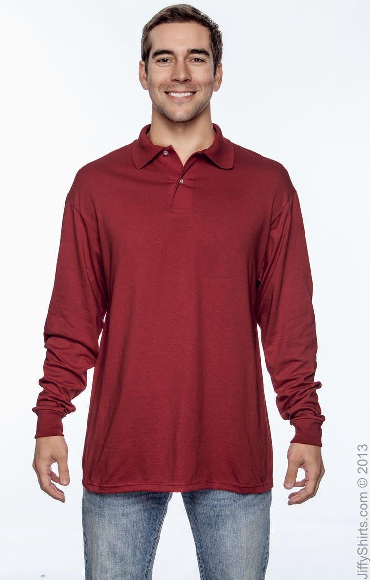 b37772001 Jerzees 437ML Adult 5.6 oz. SpotShield™ Long-Sleeve Jersey Polo ...