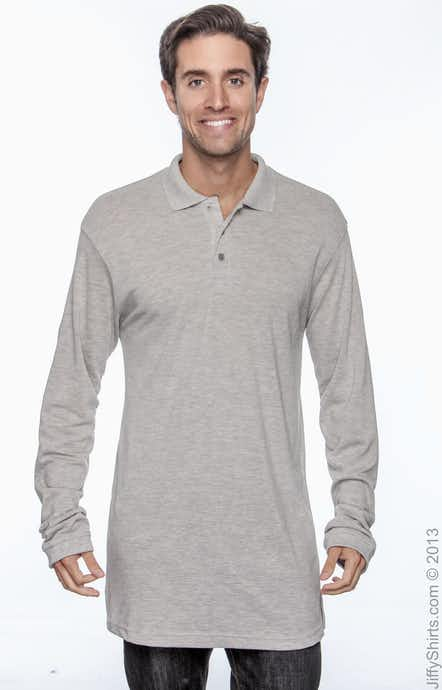 Harriton M265L Grey Heather