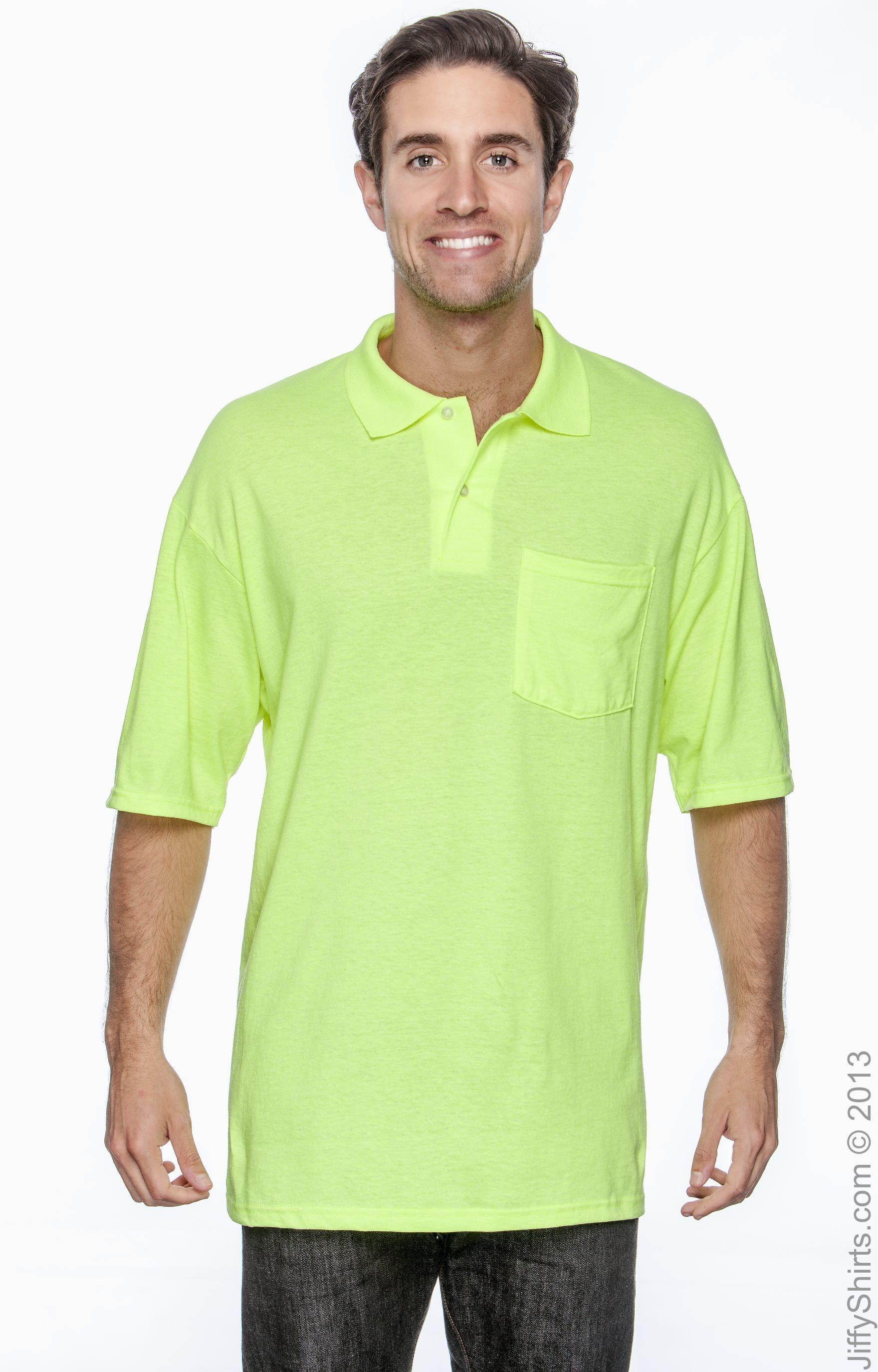 Jerzees 436P High Viz Safety Green