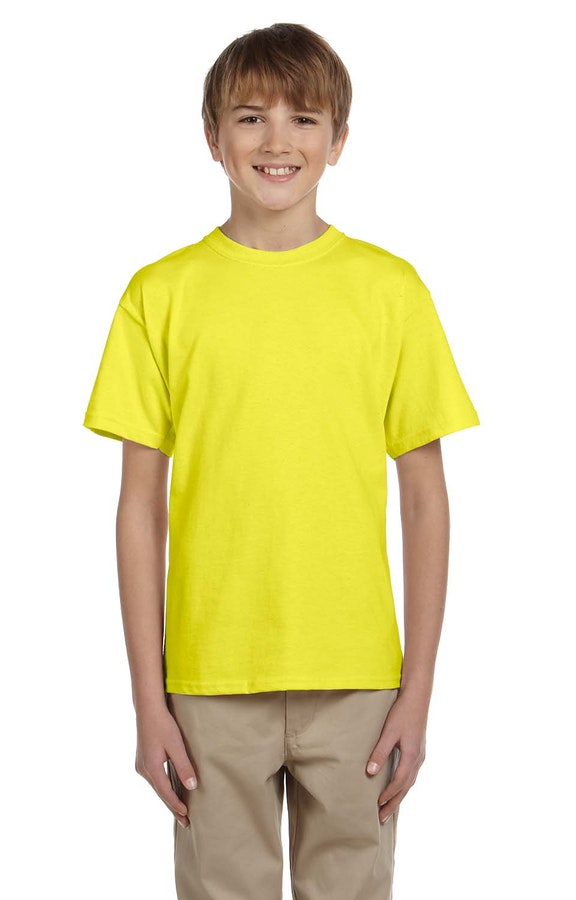 Fruit of the Loom 3931B Neon Yellow