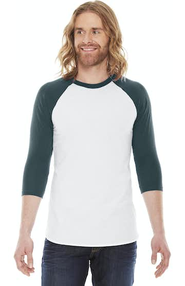 American Apparel BB453W White/ Forest