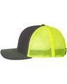 Richardson 112 Charcoal / Neon Yellow