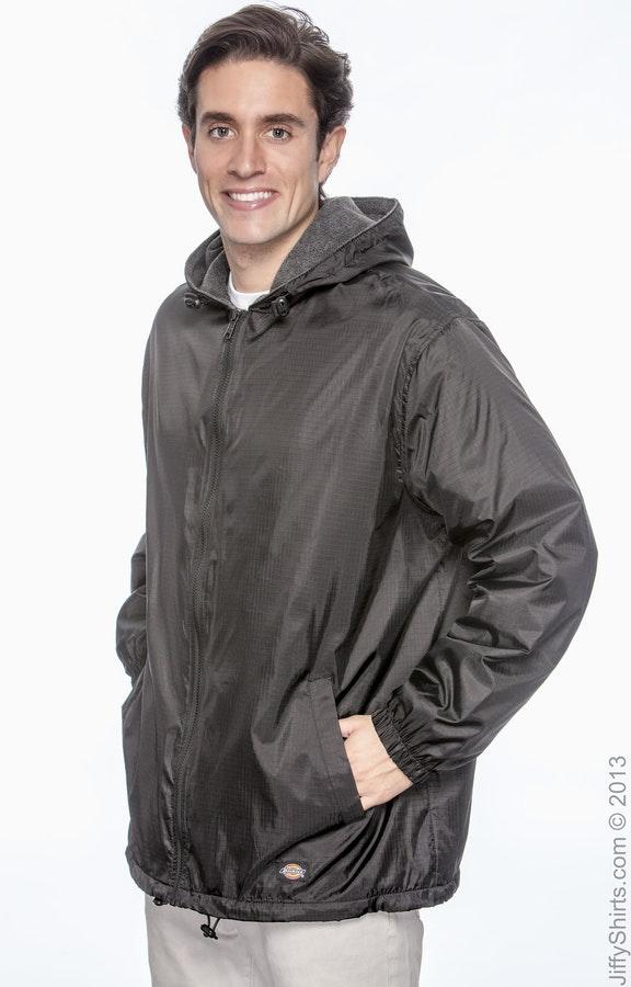 03c7473a4 Dickies 33237 Black Men's Fleece-Lined Hooded Nylon Jacket