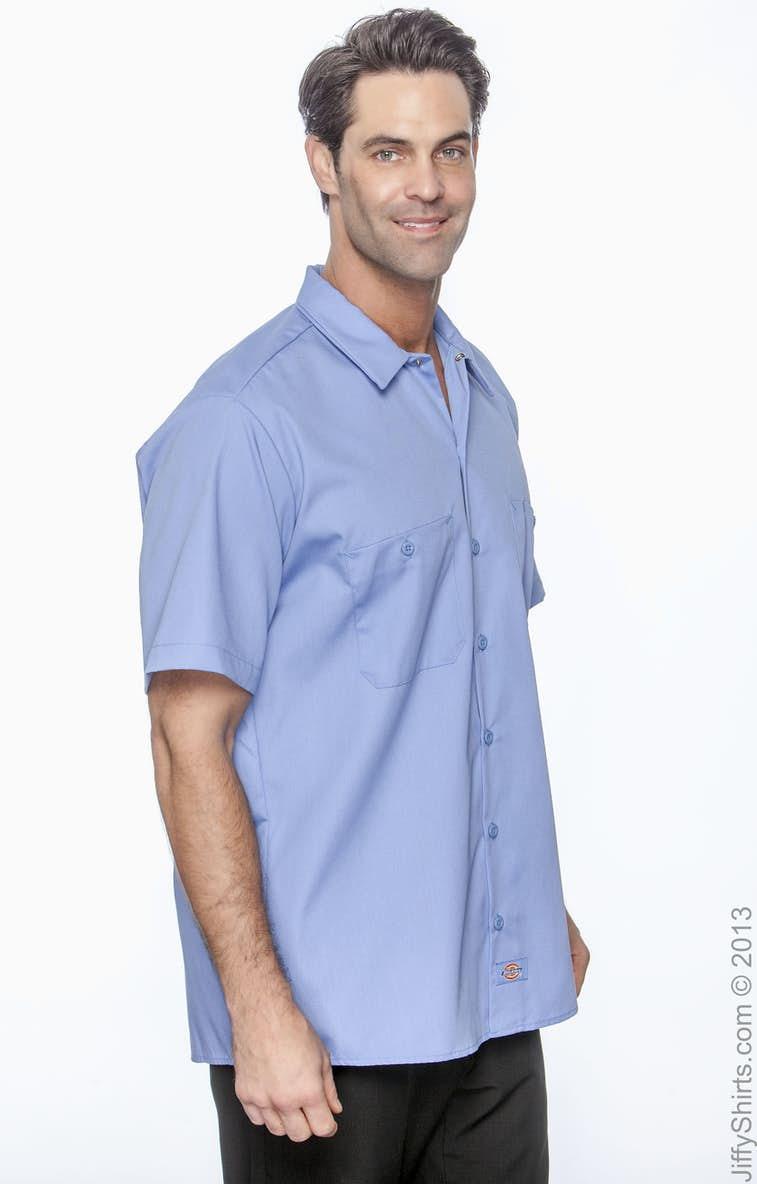 847f2f05 Light Blue Short Sleeve Work Shirts | Top Mode Depot
