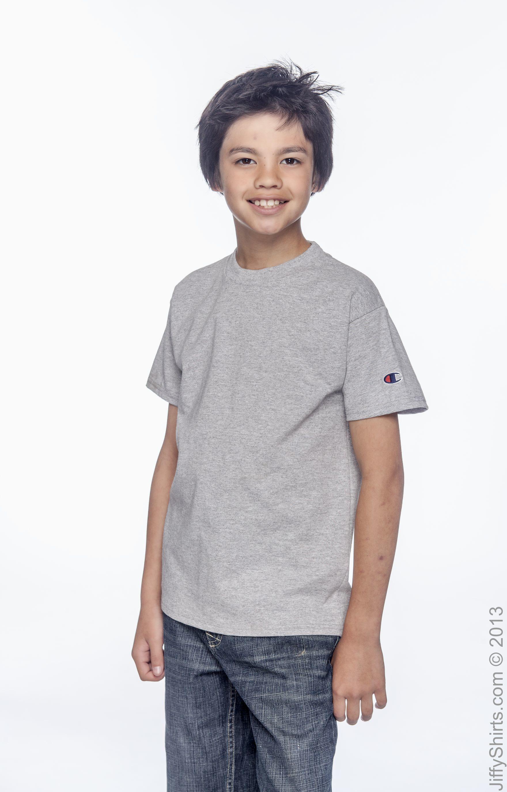 49c8459a Champion Youth 6.1 oz Short-Sleeve T-Shirt Champion T435 T-Shirts
