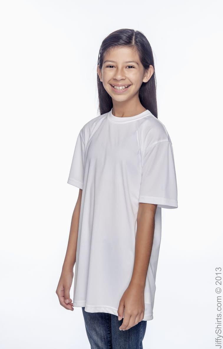 28f5cf22 Champion CW24 Double Dry® Youth 4.1 oz. Interlock T-Shirt - JiffyShirts.com