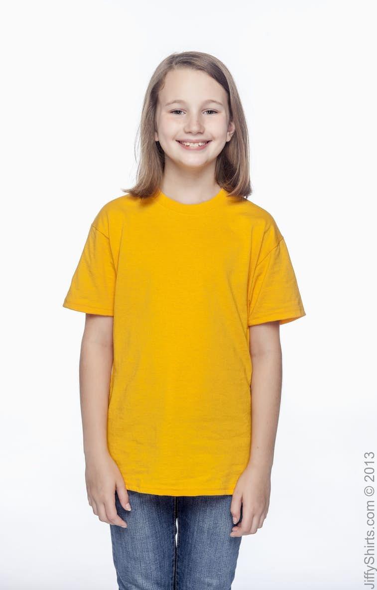 6f816a3fc Hanes 5370 Youth 5.2 oz., 50/50 EcoSmart® T-Shirt - JiffyShirts.com